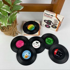 Vinyl Record Coasters Set of 6 - Unused